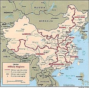 PLA military regions (1996)