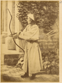 Chinese Man with Bow and Arrow. Beijing, 1874 WDL1907.png
