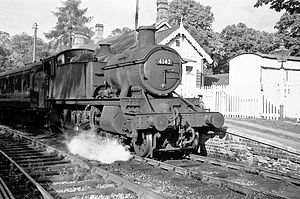 Banbury and Cheltenham Direct Railway - A train at Chipping Norton in 1962