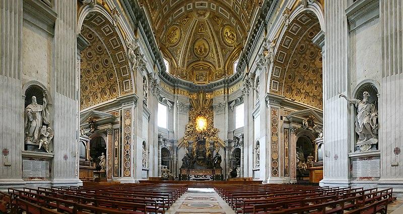 Datei:Chorraum Altar St Peter Rom.jpg