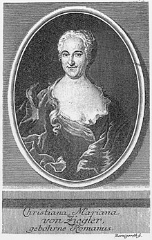 Description de l'image Christiana Mariana von Ziegler.jpg.