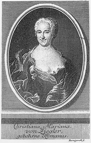 Ihr werdet weinen und heulen, BWV 103 - Image: Christiana Mariana von Ziegler