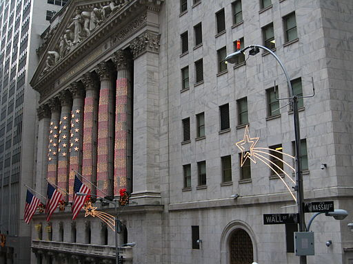 Christmas Decorations on Wall Street