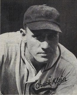 Chuck Klein American baseball player and coach