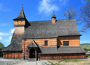 Wooden churches of Southern Lesser Poland - Image: Church of St. Michael in Dębno 2009 (5)