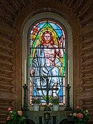 Cimitero monumentale Vantiniano famiglia Cimaschi vetrata Brescia.jpg