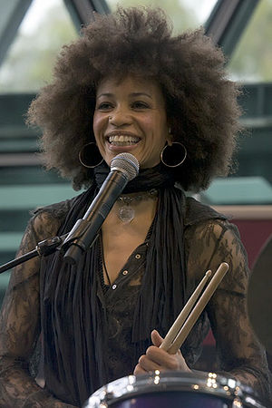 Cindy Blackman Santana - Blackman performing in Melbourne, May 2008