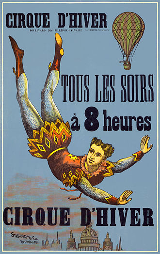 Cirque d'hiver - Late 19th century poster for the Cirque d'Hiver