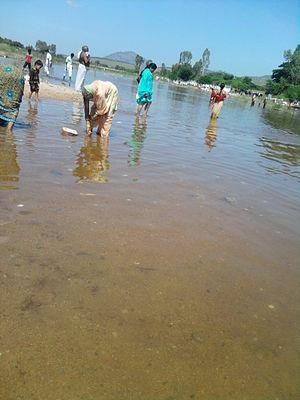 Chitravathi River - The Chitravathi at Puttaparthi