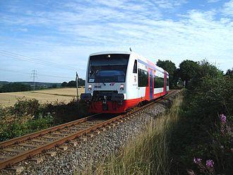 City-Bahn Chemnitz - Image: Citybahn bei Niederwürschnitz