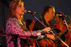 Moya Brennan - Moya performing with Clannad at a reunion in Gweedore, Donegal, 2005