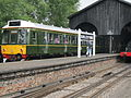 Class 121 Diesel Bubble Car Railcar at Didcot Great Western Railway Centre (7881341740).jpg