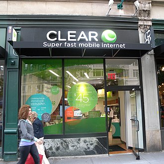 Clearwire - Clear wireless retail store in the borough of Manhattan, New York, New York, United States