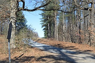 National Register of Historic Places listings in Cumberland County, Virginia - Image: Clifton driveway with historical marker