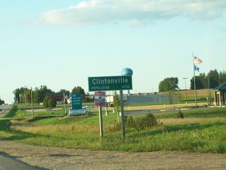 Clintonville, Wisconsin - Sign on U.S. Route 45/Wisconsin Highway 22