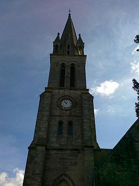 Clocher de l'église Saint-Pierre.