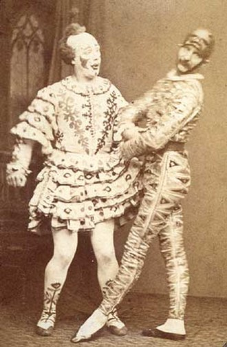 Harlequinade - The Payne Brothers as Clown and Harlequin, c. 1875