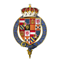 Coat of arms of Ferdinand, Infant of Spain, Archduke of Austria, KG.png
