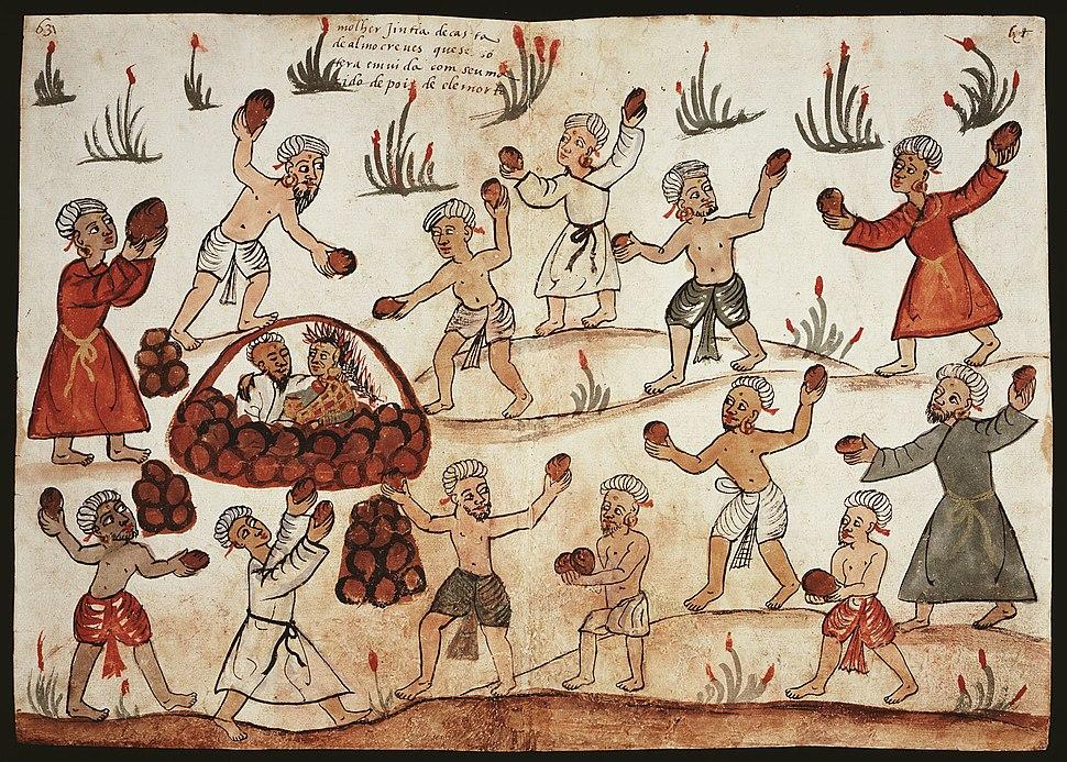 Codice Casanatense Hindu Burial