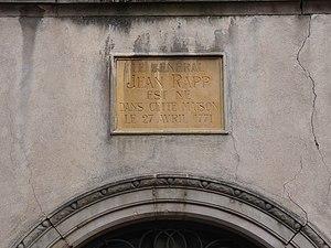 Jean Rapp - Image: Colmar Maison natale de Jean Rapp (1)