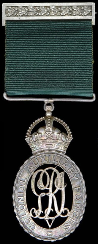 Colonial Auxiliary Forces Officers' Decoration - Image: Colonial Auxiliary Forces Officers' Decoration (George V) v 2