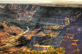Die Coloradorivier in die Grand Canyon, Arizona.