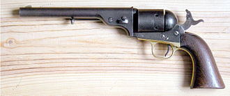 Colt Model 1871-72 Open Top - Colt Open Top, later model with larger Colt 1860 Army grip