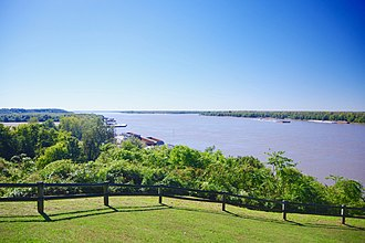 Hickman County, Kentucky - The Mississippi River, viewed from Columbus-Belmont State Park