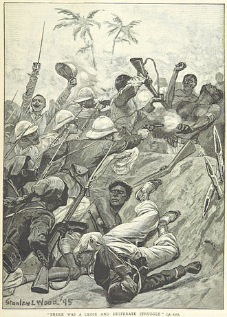 Second Franco-Dahomean War - Hand-to-hand fighting at Cotopa (from a British book)
