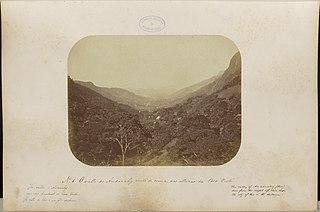 A valle do Andarahy visto de cima das alternas da Boa Vista