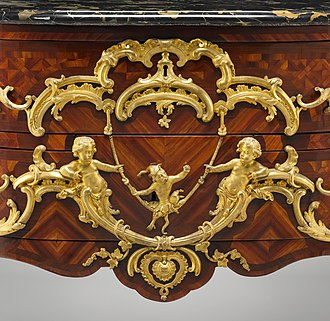 Rocaille - Commode decoration by Charles Cressent (1745-49), Metropolitan Museum