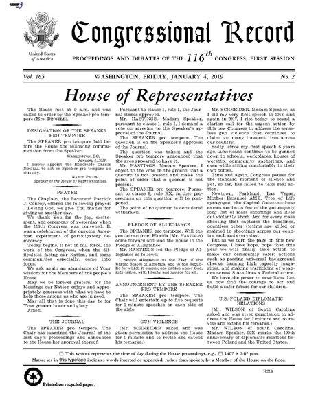 File:Congressional Record Volume 165, Issue 002, 2019-01-04.pdf