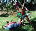 Conquista de México Tenochtitlan. Batalla entre indígena y conquistador.jpg