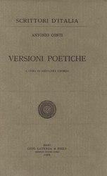 Antonio Schinella Conti: Versioni poetiche