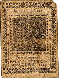 Continental Currency $7 banknote reverse (November 29, 1775).jpg