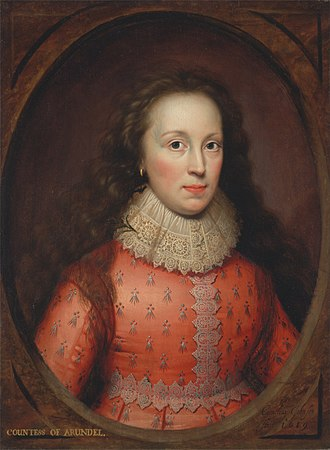 Lenthall pictures - Image: Cornelius Johnson Portrait of a Woman, Traditionally Identified as the Countess of Arundel Google Art Project