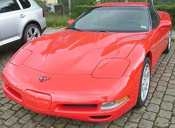 English: A Corvette C5 in red