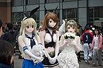 Cosplayers of Shimakaze, Mutsu, and Kotori Minami at CH1 20160220.jpg