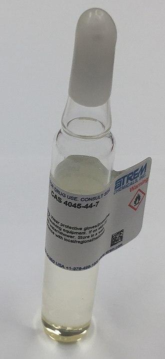 Pentamethylcyclopentadiene - Sample of pentamethylcyclopentadiene in ampoule.