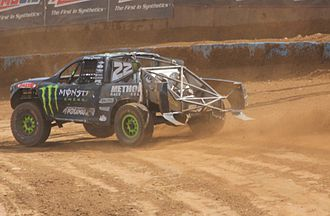 Off-road racing - Johnny Greaves racing his Pro 4 trophy truck at Crandon, Wisconsin