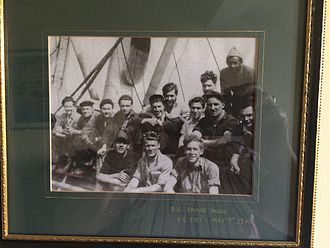 SS Empire Duke - May 7th 1945 VE Day, WWW2. Merchant Navy. Deckhand John Dunphy bottom right.