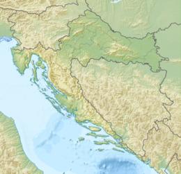 2020年札格雷布地震在克罗地亚的位置