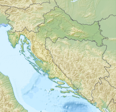 Location map Croatia