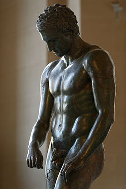 Croatian Apoxyomenos, Ancient Greek statue, 2nd or 1st century BC Croatian Apoxyomenos Louvre n04.jpg