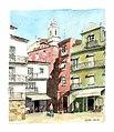 Croquis aquarellé- Lisbonne Alfama - Portugal (5642930126).jpg