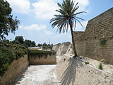 Crusader Walls and Moat in Caesarea.jpg