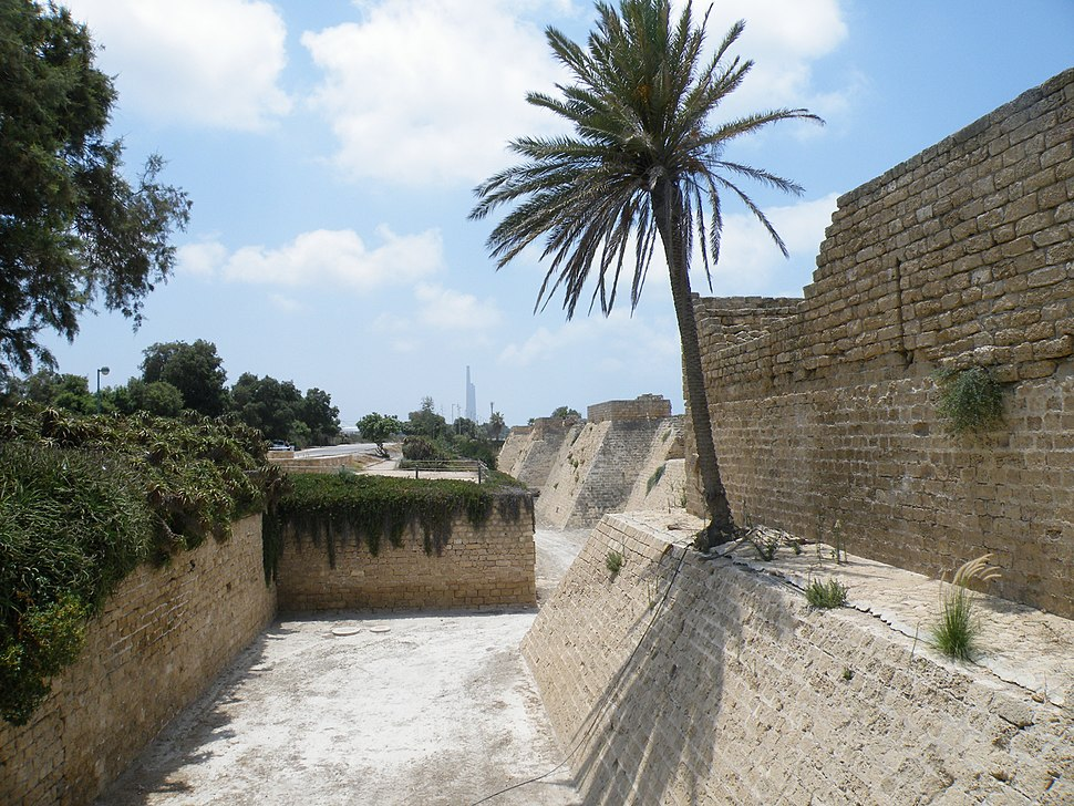 Crusader Walls and Moat in Caesarea