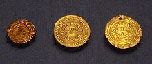 Photograph of three kingdom of Jerusalem coins from the British Museum