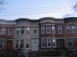 Rowhouses in Cypress Hills