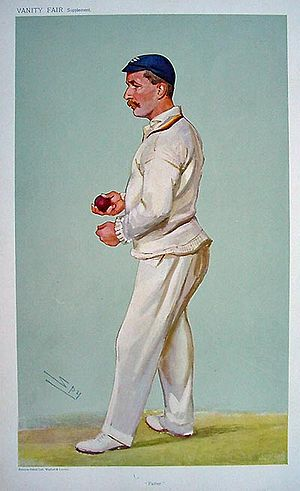 "Cyril Wells - ""Father"" Wells as caricatured by Spy (Leslie Ward) in Vanity Fair, July 1907"